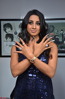 Sanjana looks happy in sparkling short Deep neck Purple Gown ~  Exclusive 57.JPG