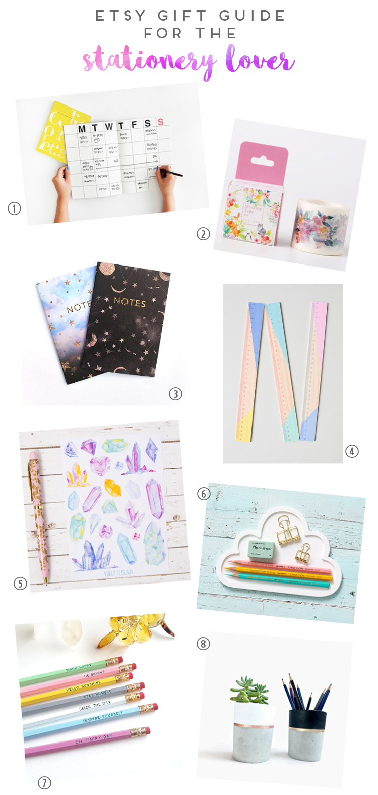 ETSY GIFT GUIDE FOR THE STATIONERY LOVER.