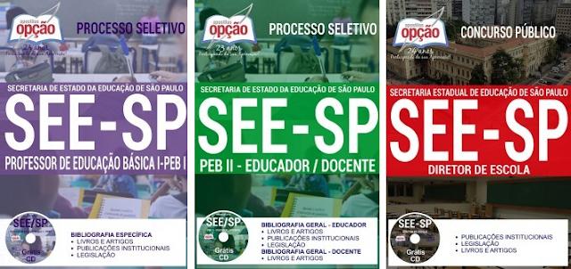 Apostila SEE-SP 2018 professores de Educação Básica I e II.