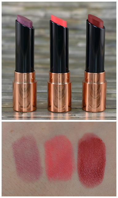 Astor perfect stay fabulous all in one lipsticks fireworks, feeling feeline und fiction red plus Swatches