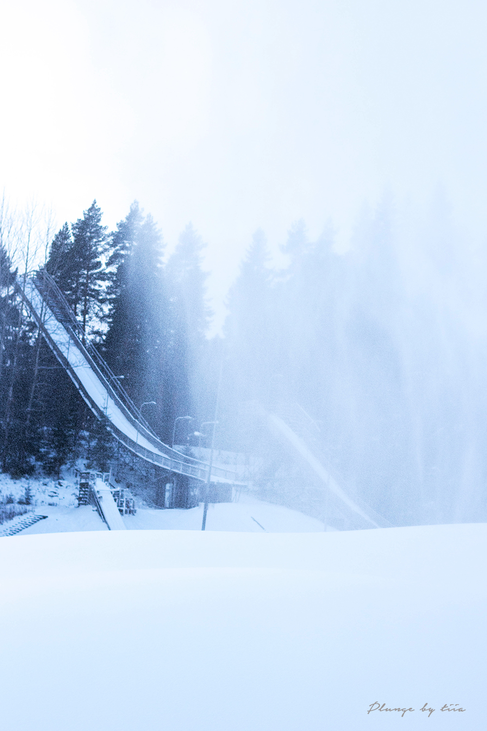 Small ski jump in Lahti, Finland