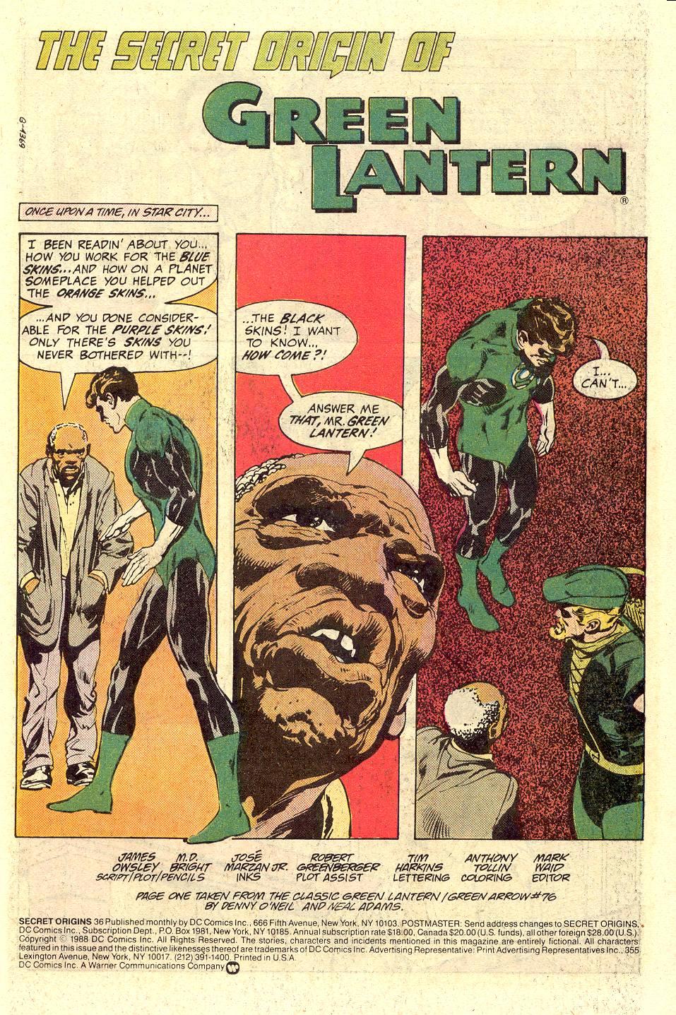 Read online Secret Origins (1986) comic -  Issue #36 - 2