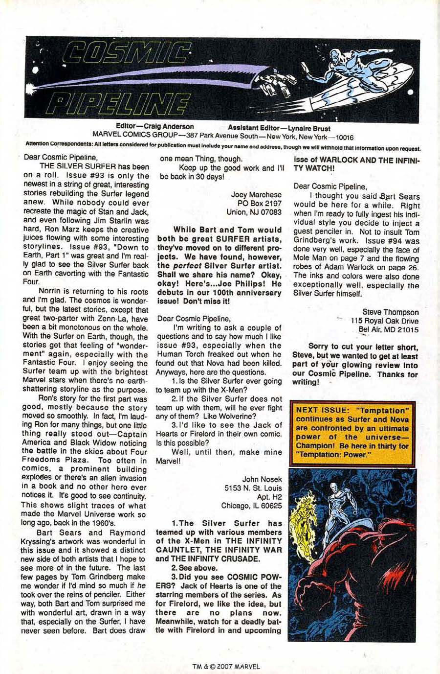 Read online Silver Surfer (1987) comic -  Issue #97 - 33