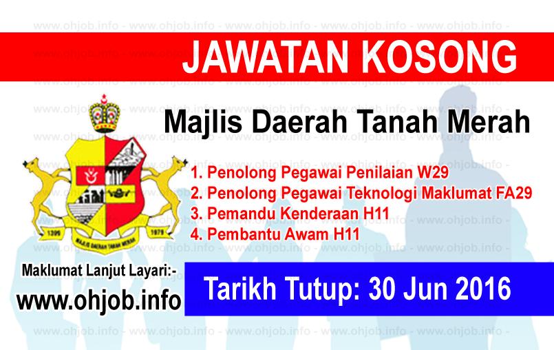 Jawatan Kerja Kosong Majlis Daerah Tanah Merah logo www.ohjob.info jun 2016