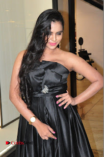Actress Manasa Himavarsha Pictures in Black Short Dress at The Great Hydrerabad Life Style EXPO II  0015