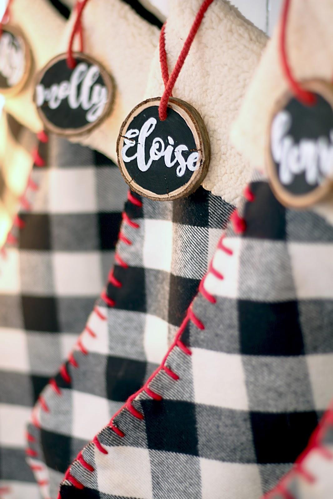 Grosgrain: Christmas Stockings with Handmade Nametags
