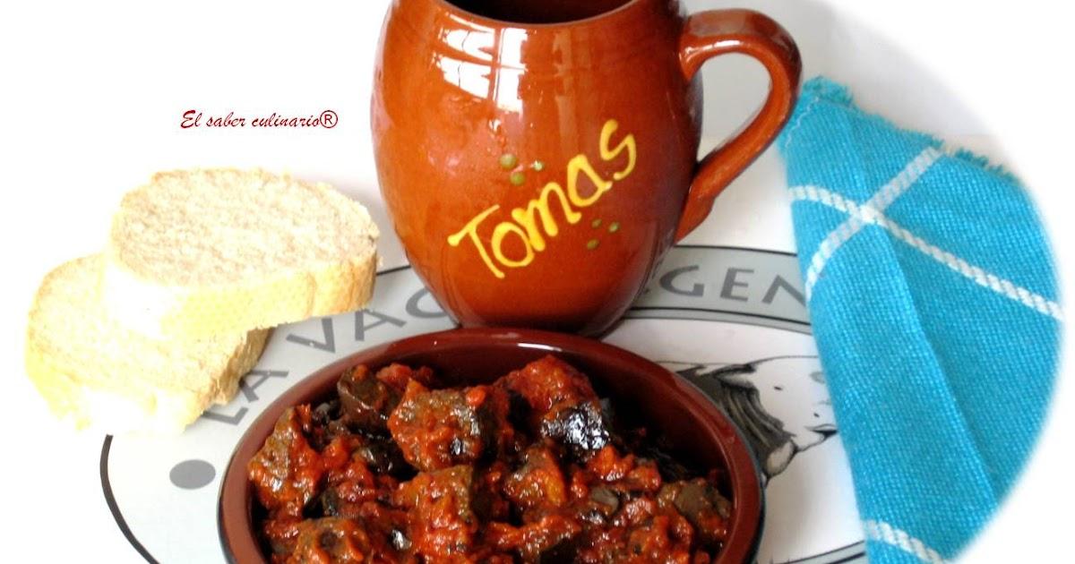 Sangre Frita Con Tomate El Saber Culinario