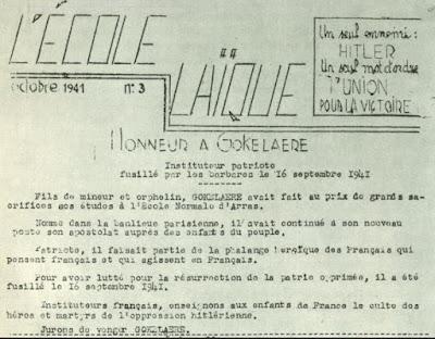 Tract syndical, octobre 1941 (in L'Encyclopédie Générale de l'Education Française-Tome Premier)