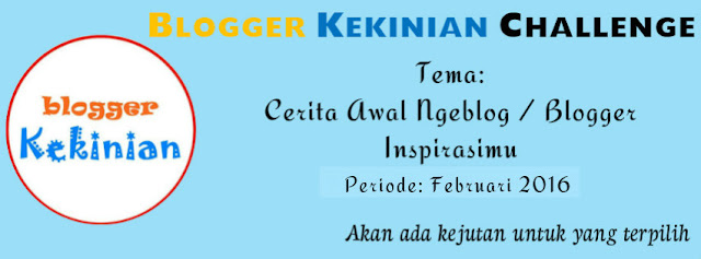 Blogger Kekinian Challenge