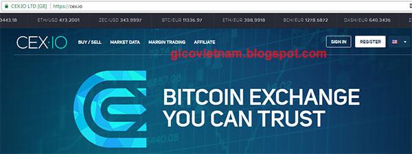 Sàn giao dịch bitcoin cex.io