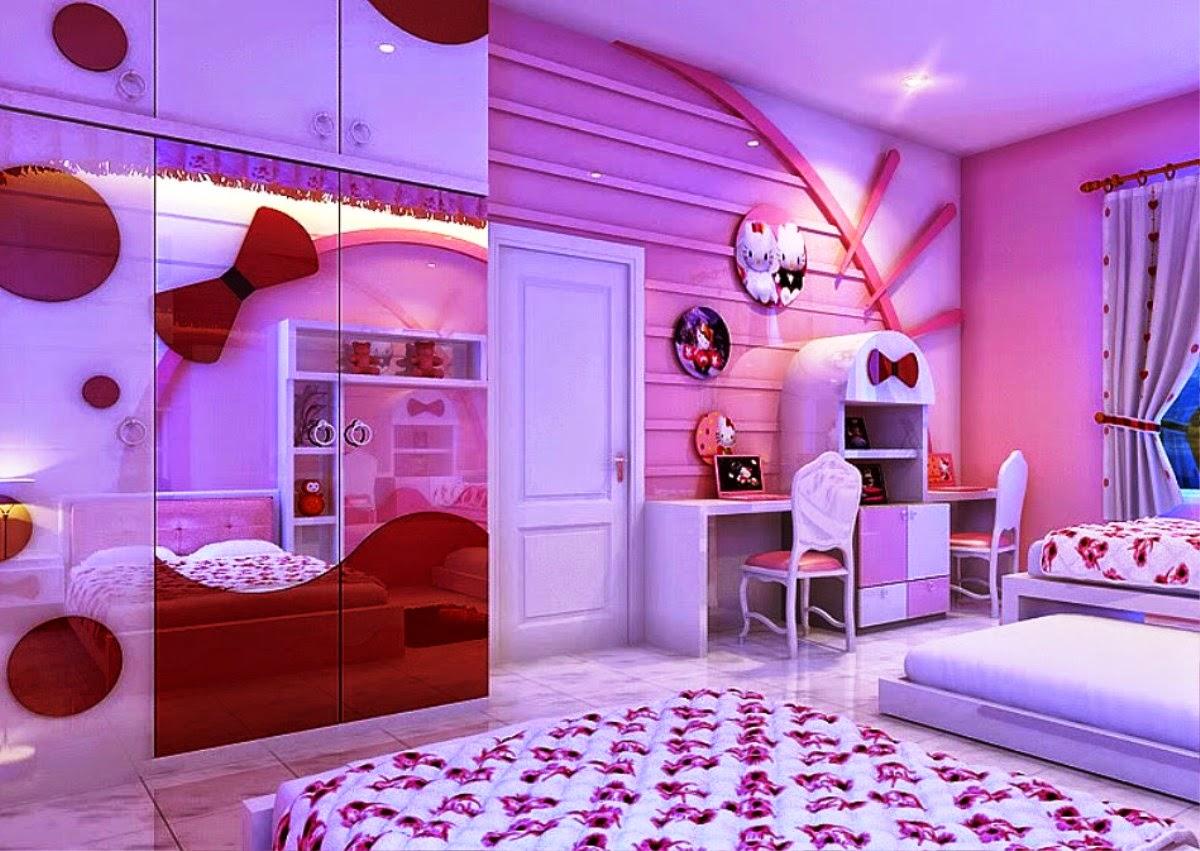 desain kamar tidur nuansa hello kitty | kumpulan desain rumah
