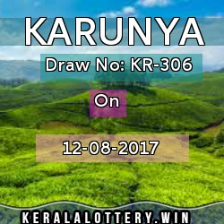 karunya kr 306. 12-08-17, kerala lottery today results