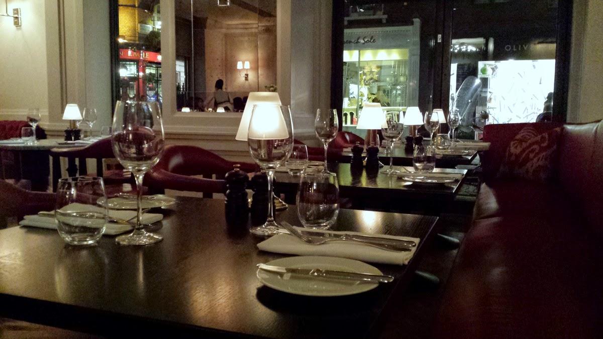 108 Brasserie Marylebone Hotel Restaurant Review
