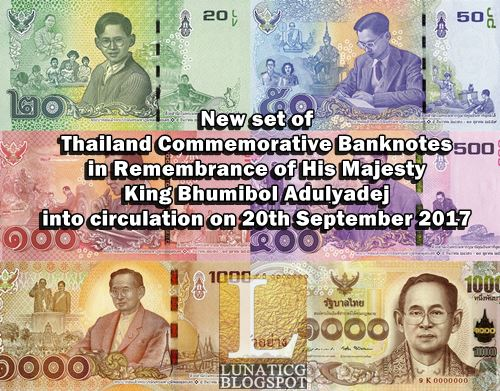 new thailand banknotes