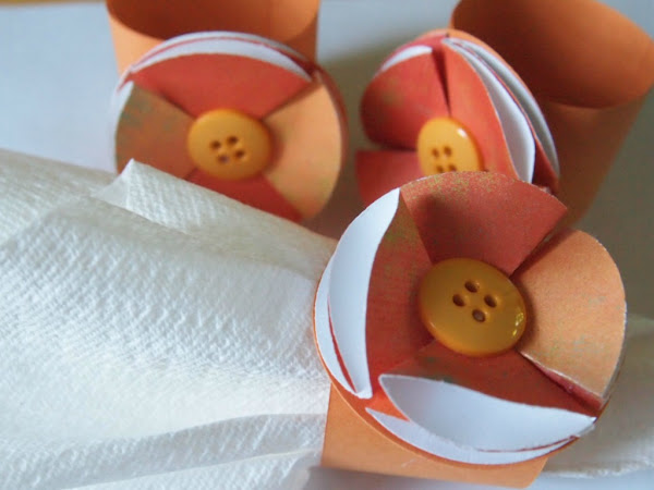 Orange Fizz Paper Napkin Rings