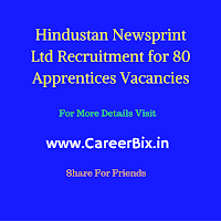 Hindustan Newsprint Ltd Recruitment for 80 Apprentices Vacancies