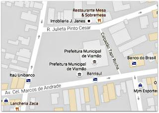 Mapa do Centro Histórico de Viamão