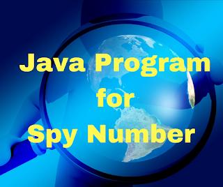java program for spy number