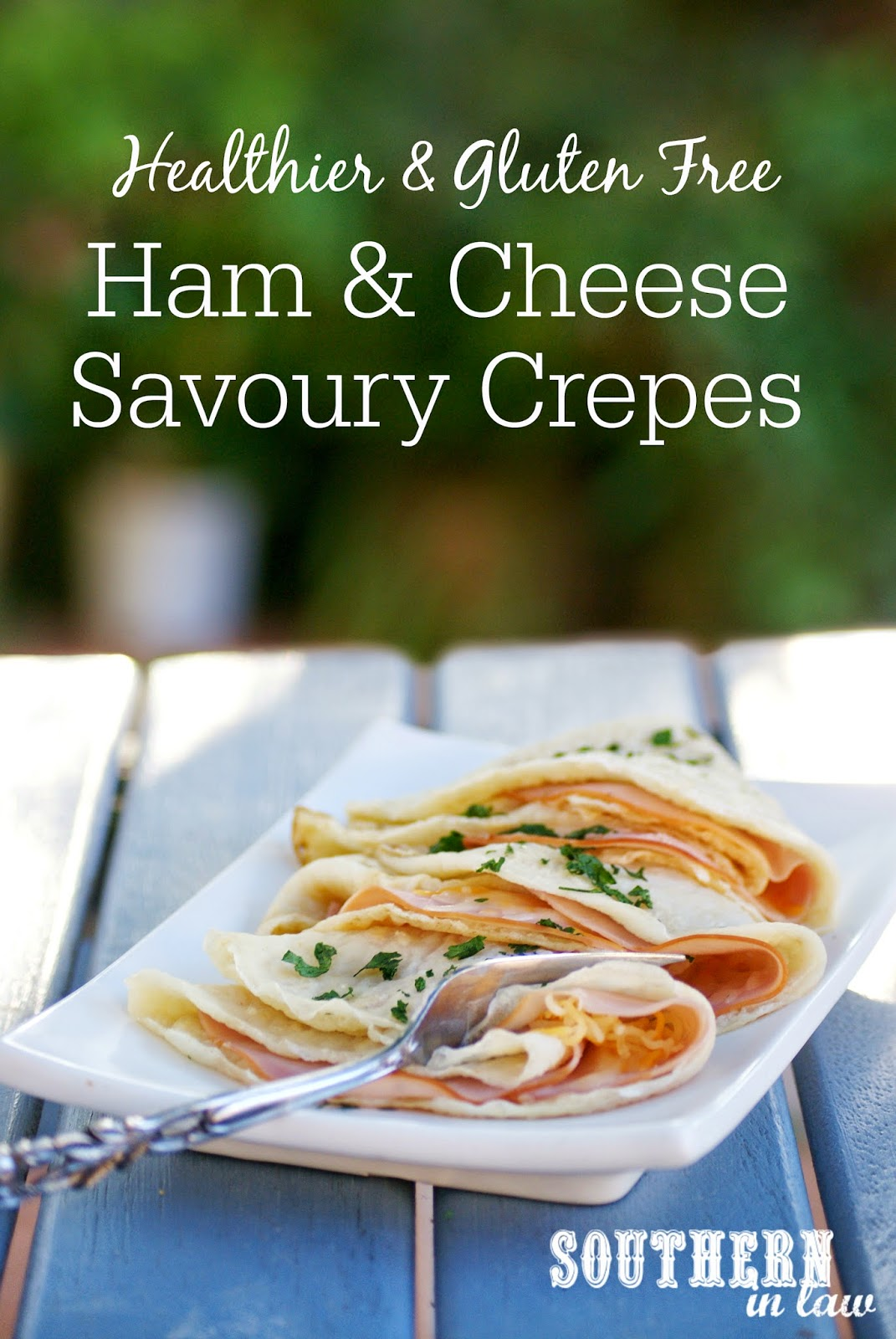 Healthier Ham and Cheese Crepes Recipe - low fat, gluten free, clean eating friendly, healthy dinner recipes