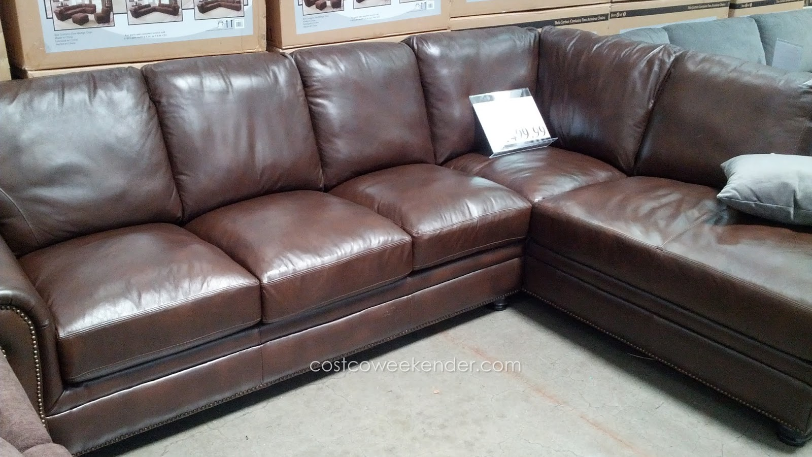 Marks Cohen Savoy 2 Piece Leather Sectional A Clic L Shaped Couch