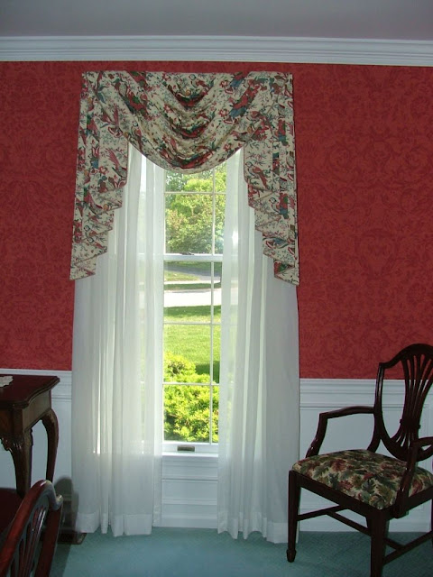 Custom Window Treatments By Why Sew Serious Swag Amp Jabot