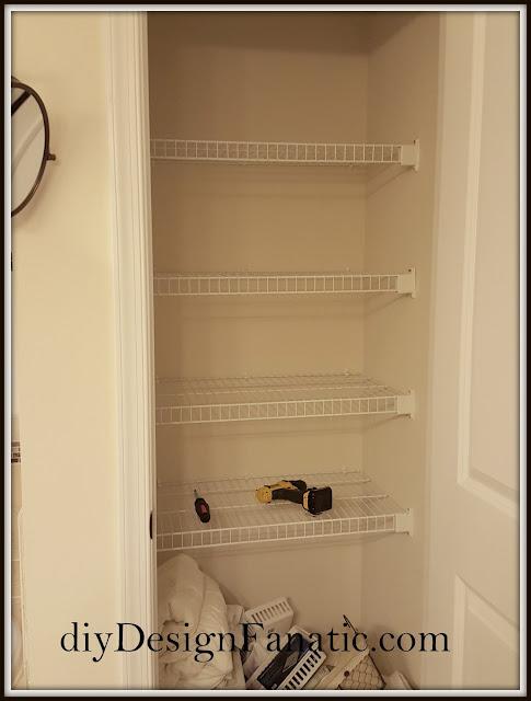 organization, organizing, linen closet, shelving, closet, cottage, farmhouse, diydesignfanatic.com