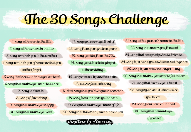 30 songs challenge