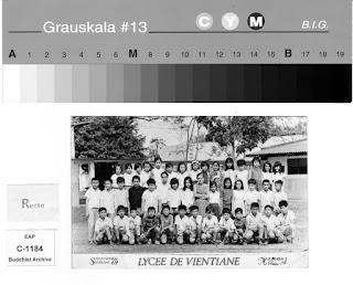 Lao Buddhist Photo Archive - Class photo of Lycee de Vientiane in 1969.