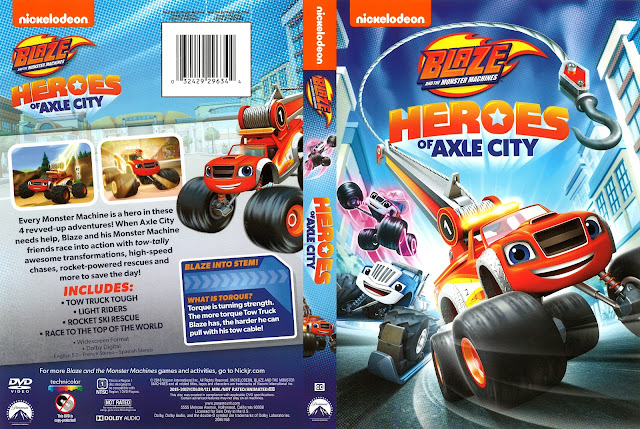 Nickelodeon Blaze and the Monster Machines: Heroes of Axle City DVD Cover