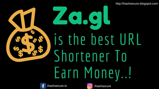 Za.gl is the best URL Shortener to Earn Money