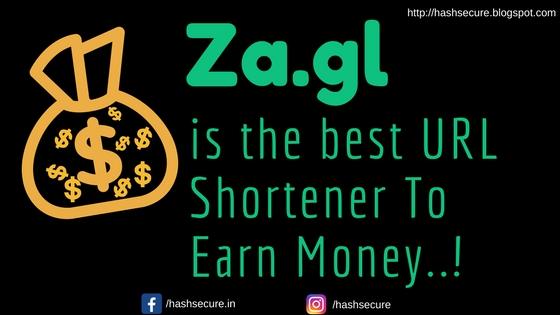 Za.gl is the best URL Shortener to Earn Money