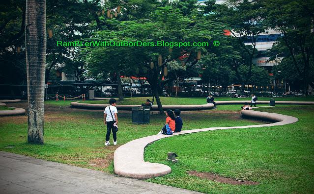Ayala gardens, Ayala Triangle Park, Makati, Manila, Philippines
