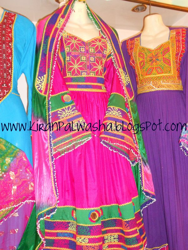 Fancy and traditional Pashtoon Afghani frocks