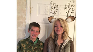 halloween costume deer hunter camo couples couple