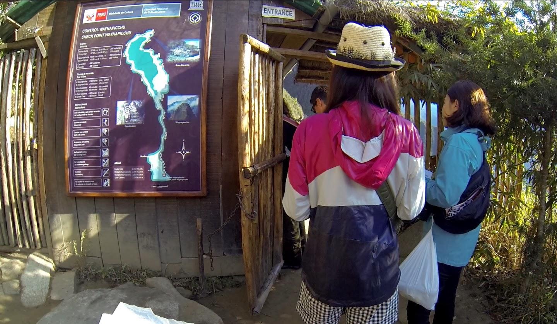 Mapa da montanha Huaynapicchu.