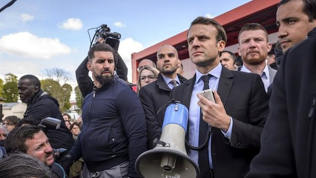 """FRENCH REVOLUTION 2.0: GLOBALIST SHILL MACRON """"CHASED"""" FROM FACTORY BY FRENCH WORKERS"""