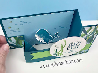 Stampin' Up! Whale Done Wiper Card VIDEO Tutorial ~ 2020-2021 Annual Catalog ~ www.juliedavison.com ~ #stampinup