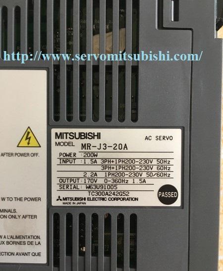 Đại lý bán Drive Servo Mitsubishi MR-J3-20A 0.2kW, nhà phân phối bảo hành sửa chữa Servo Mitsubishi