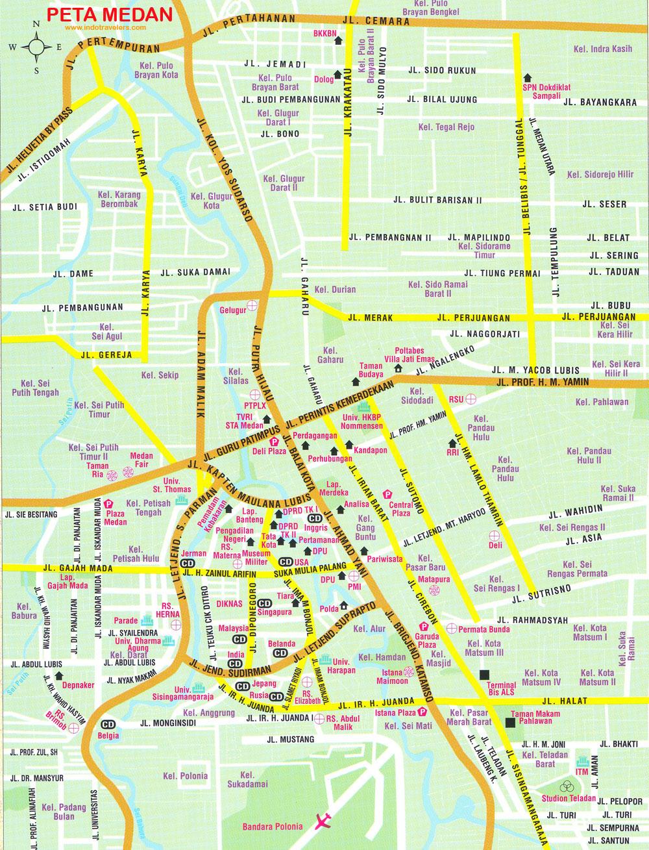 Peta Kota: Peta Kota Medan
