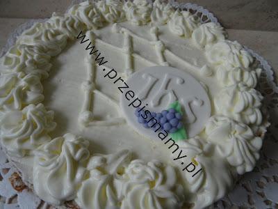 Tort śmietankowy komunijny