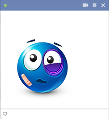 Black-Eye Facebook Sticker