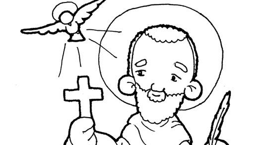 Dibujos De San Antonio Para Colorear: Dibujos Para Catequesis: SAN MARCOS EVANGELISTA