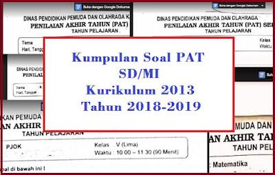 Soal PAT Kelas 3 Semester 2 Kurikulum 2013 dan Kunci Jawabannya Tahun 2018/2019