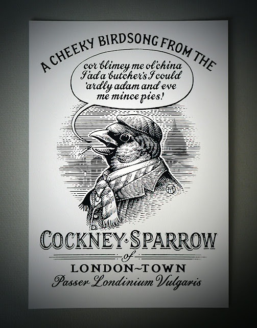 The Cockney Sparrow of London-town!...