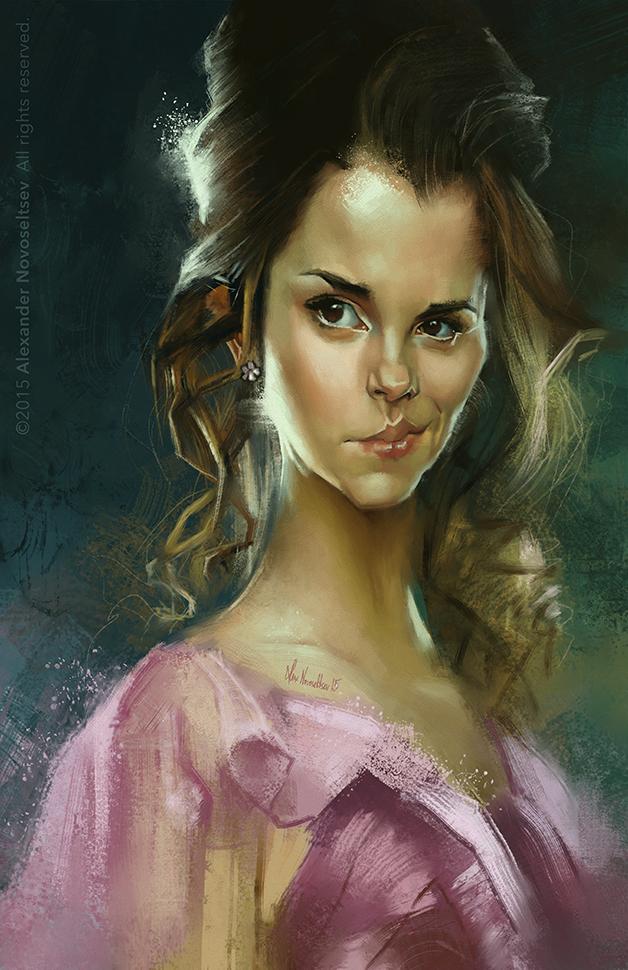 """Emma Watson"" por Alexander Novoseltev"