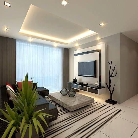 Lovely Room Design: 10 Lovely Living Room Designs With Wall Mounted TV