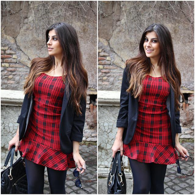 Resultado de imagem para vestido xadrez vermelho como usar