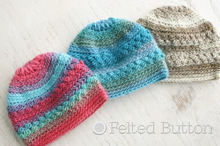 Only Just Born Hat FREE crochet pattern by Susan Carlson of Felted Button