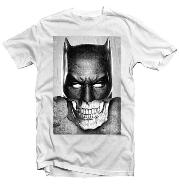 batman skull tshirt design