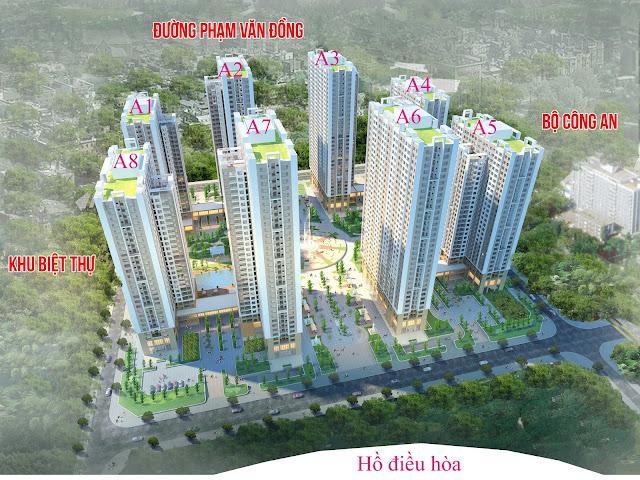 Phối cảnh tổng thể chung cư An Bình City